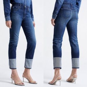 • AG • Isabelle High Rise Straight Crop Jeans 12Yr